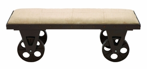 Portable Dressing Bench With Rolling Wheels - 56061 by Benzara