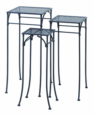 Elegant Set of Three Square Plant Stands 3/S - 65798 by Benzara