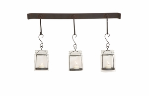 Elegant Styled Metal Glass Wall Candle Votive - 55531 by Benzara