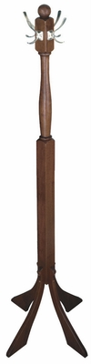 Winsome Wood Elegantly Designed Coat Tree with Nickel Hooks For Your Coat
