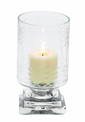 Elegantly Styled Exclusive Glass Candle Holder By  Import - 28866 by Benzara