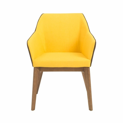 Buy elias arm chair set of 2 yellow at for Wild orchid furniture