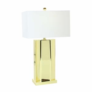 Elite Golden Metal Table Lamp - 78485 by Benzara