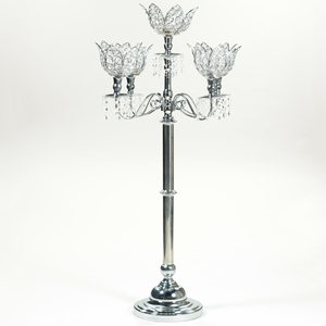 Enchanting Candle Holder with Stones   - EN2290 by Benzara