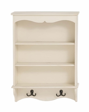 Enchanting Styled Wood Wall Shelf with Hook - 96287 by Benzara