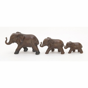 Endearing Ceramic Elephant Set Of 3 - 50730 by Benzara
