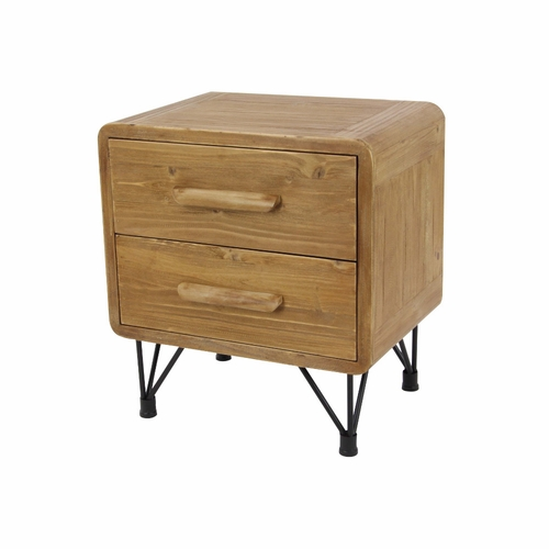 Buy engaging 2 drawer end table at for Wild orchid furniture