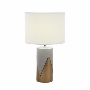 Engaging Ceramic Concrete Metal Table Lamp - 82967 by Benzara