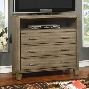 Enrico I Contemporary Style Media Chest, Gray