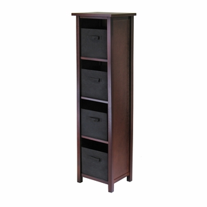 Winsome Wood Winsome Wood Enthralling Four Tier Verona Wooden Storage Shelf