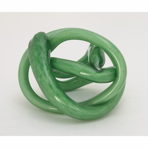 Enthralling Glass Green Knot - 84017 by Benzara