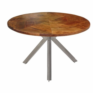 Enthralling Metal Wood Coffee Table by Benzara