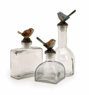 IMAX Enthralling Unique Styled Maco Bird Bottles (Set of 3)