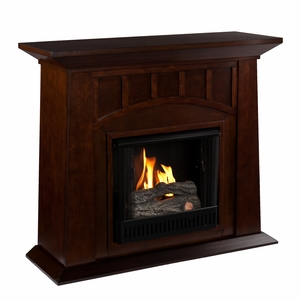 Enticing Wooden Lowery Gel Fuel Fireplace by Southern Enterprises