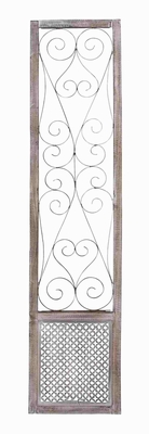 Traditional Country Inspired Metal Wood Wall Panel - 34117 by Benzara