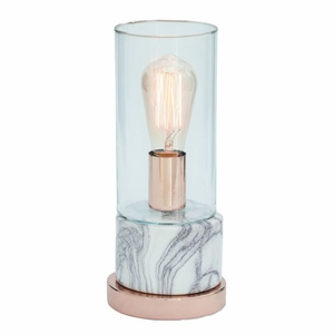 Excellent Ceramic Metal Glass Table Lamp by Benzara