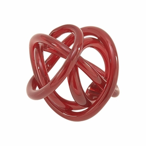 Excellent Glass Knots Red - 61883 by Benzara