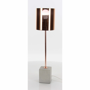 Exceptional Metal Cement Table Lamp - 58693 by Benzara