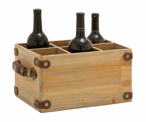Exclusively Designed Wood Wine Caddy - 48537 by Benzara
