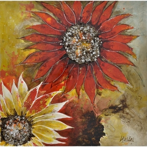 Yosemite Home Decor Exclusively Painted Sunburst Flower II Painting