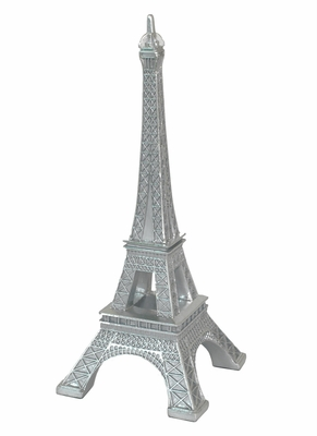 Exclusively Silver Resin Eiffel Tower by Benzara