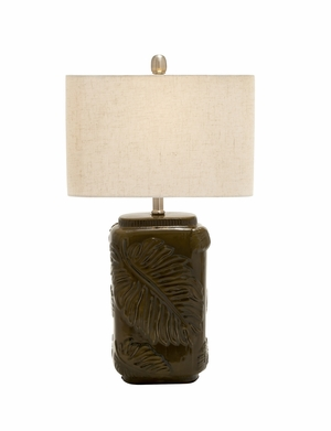 Exquisite And Useful Polystone Table Lamp - 97378 by Benzara