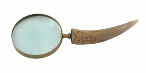 Exquisite Brass Horn Magnifying Glass - 19017 by Benzara