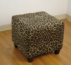 4D Concepts Exquisite Large Microfiber Suede Patterned Bench
