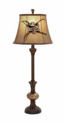 Exquisite Modish Styled Polystone Glass Ball Buffet Lamp - 97362 by Benzara