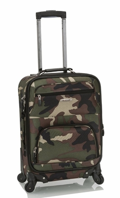 "F1051-CAMO Mariposa 19""  Expandable Spinner Carry On  Luggage Set"