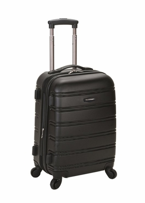 """F145-BLACK Melbourne 20"""" Expandable Carry On Luggage Set"""