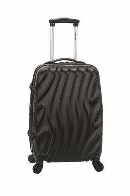"""F145-BLACKWAVE Melbourne 20"""" Expandable Abs Carry On Luggage Set"""