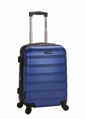 """F145-BLUE Melbourne 20"""" Expandable Abs Carry On Luggage Set"""