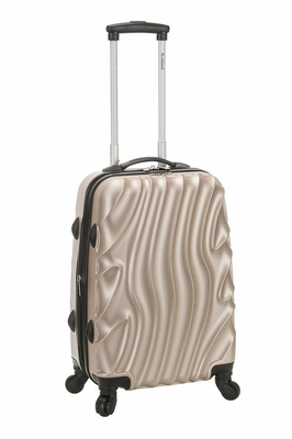 """F145-GOLDWAVE Melbourne 20"""" Expandable Abs Carry On Luggage Set"""
