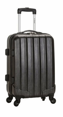 """F145-METALLIC Melbourne 20"""" Expandable Abs Carry On  Luggage Set"""