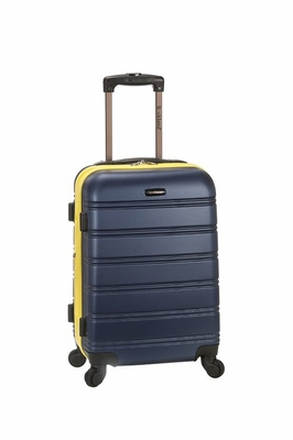 F145-NAVY Melbourne Expandable Abs Carry On  Luggage Set