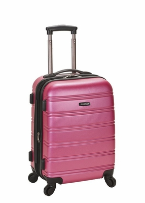 """F145-PINK Melbourne 20"""" Expandable Abs Carry On Luggage Set"""