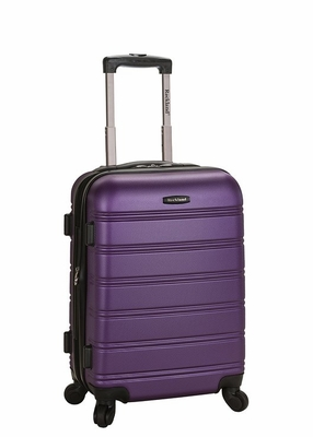 "F145-PURPLE Melbourne 20"" Expandable Abs Carry On Luggage Set"