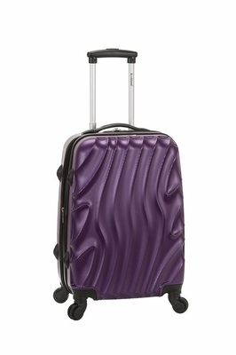 """F145-PURPLEWAVE Melbourne 20"""" Expandable Abs Carry On Luggage Set"""