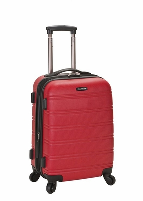 """F145-RED Melbourne 20"""" Expandable Abs Carry On Luggage Set"""