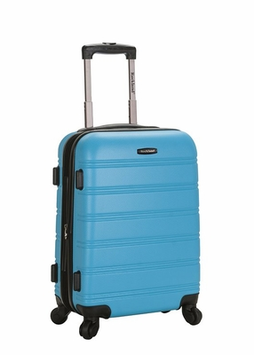 """F145-TURQUOISE Melbourne 20"""" Expandable Abs Carry On  Luggage Set"""