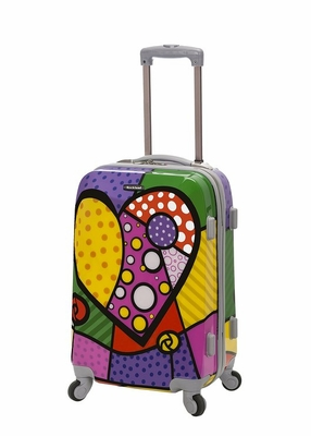 """F151-HEART 20"""" Polycarbonate Carry On  Luggage Set"""