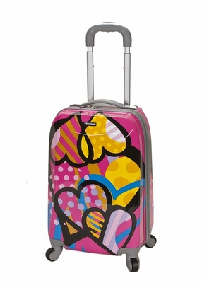 """F151-LOVE 20"""" Polycarbonate Carry On  Luggage Set"""