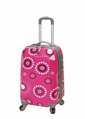 """F151-PINKPEARL 20"""" Polycarbonate Carry On Luggage Set"""