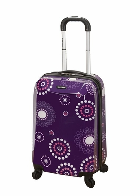 """F151-PURPLEPEARL 20"""" Polycarbonate Carry On Luggage Set"""