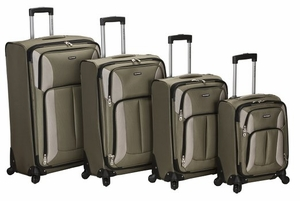 F155-OLIVE 4Pc Impact Spinner Luggage Set