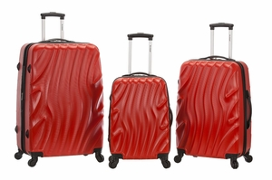 F160-REDWAVE Melbourne 3 Pc Abs Luggage Set