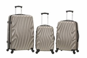 F160-SILVERWAVE Melbourne 3 Pc Abs Luggage Set