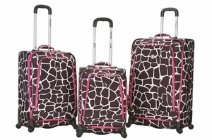 F180-PINKPEARL Fusion 3 Pc Luggage Set