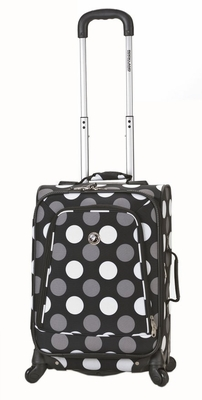 """F181-BLACKDOT 20"""" Spinner Carry On Luggage Set"""